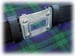 Black Leather Kilt Belt with Buckle