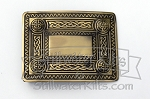 Antique Brass Celtic Kilt Belt Buckle