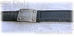 Embossed Kilt Belt with Buckle- Black