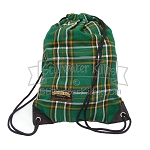 Tartan Drawstring Backpack Bag
