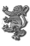 Rampant Lion Kilt Pin (antique silver)