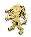 Deluxe Rampant Lion Kilt Pin - Antique Brass