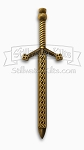 Deluxe Celtic Knot Sword Kilt Pin - Antique Brass