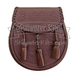 Embossed Brown Leather Sporran