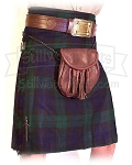 Wool Heavyweight Kilt: Black Watch Tartan