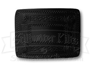 Black Finish Celtic Kilt Belt Buckle