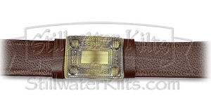 Premium Brown Kilt Belt with Buckle