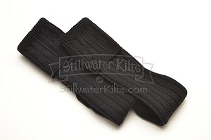Premium Wool-Blend Kilt Socks BLACK