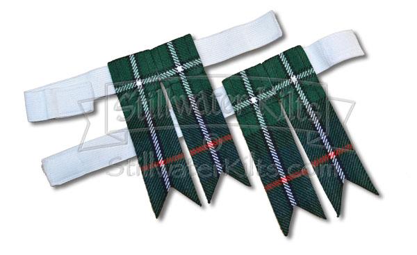 Scottish Kilt Hose Sock Flashes Black//Kilt Sock Flashes Black//kilt Flashes